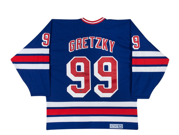 Wayne Gretzky Autographed NY Rangers Replica Jersey