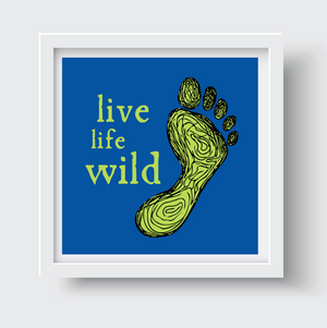 Blue Green Trail Print