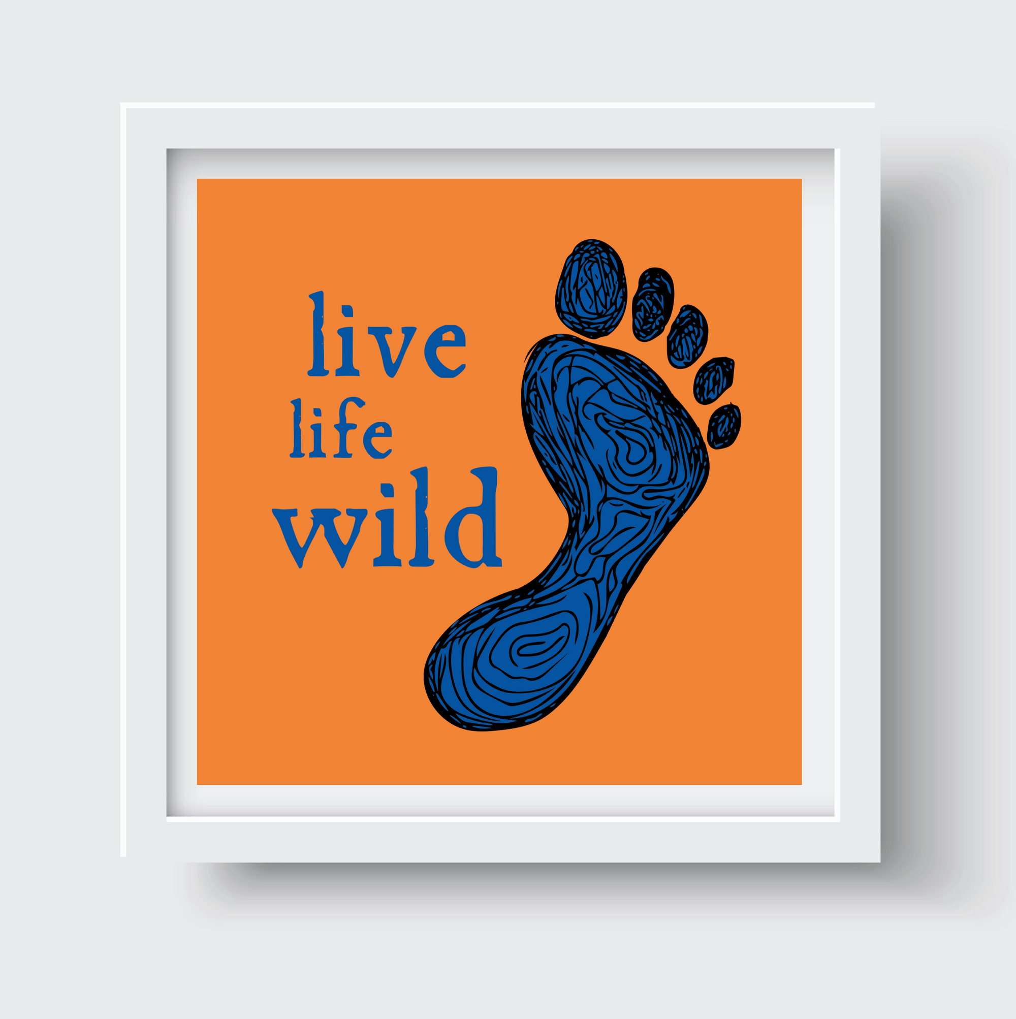 Orange Blue Trail Print