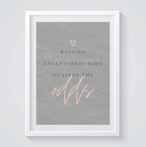 Against the Odds Print