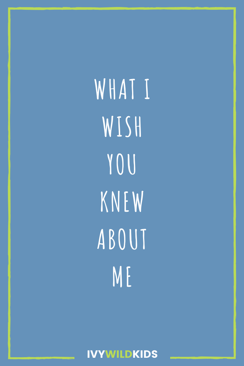 What I Wish You Knew