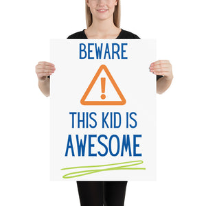 Awesome Kid Poster