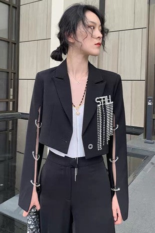 Business Bling Crop Jacket