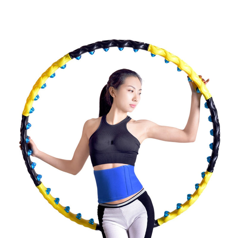 Fitness Massage Exercise Workout Sport Hoop Detachable 7/8 Parts Magnectic