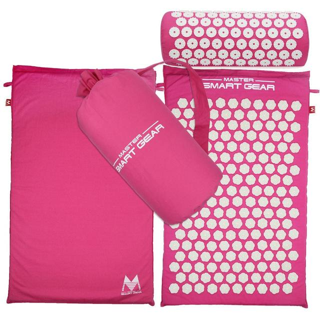 Acupressure Mat, Massage Mat and Pillow Set Yoga Mat Relieve Back, Neck and Sciatic Pain, Relax Muscles, Relieve - Smartfatburner.com