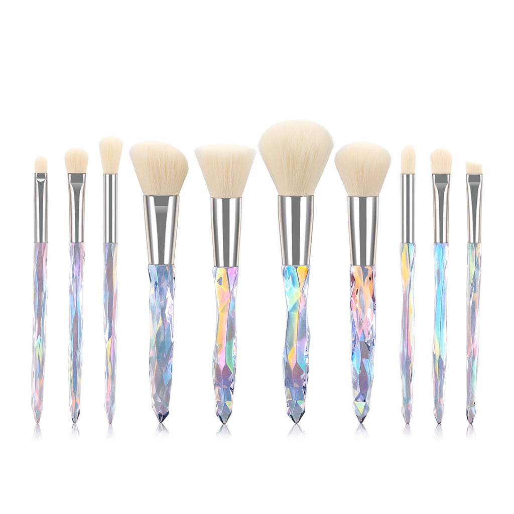 Crystal Makeup Brushes Sets-white