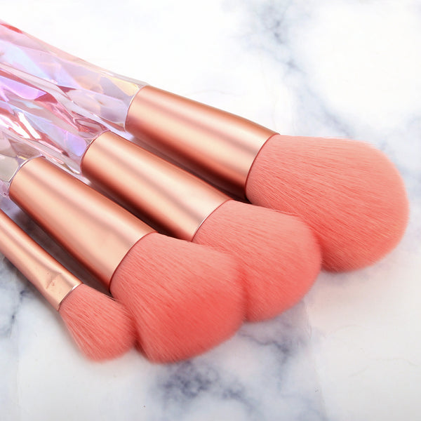 Crystal Makeup Brushes Sets-Pink