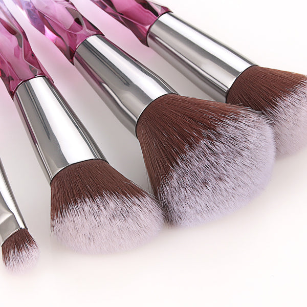Crystal Makeup Brushes Sets-purple