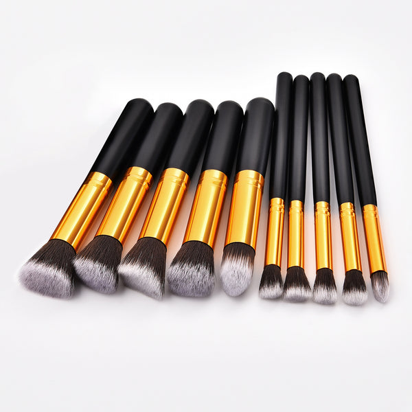 Makeup Brushes 10pcs, Professional Brush Set
