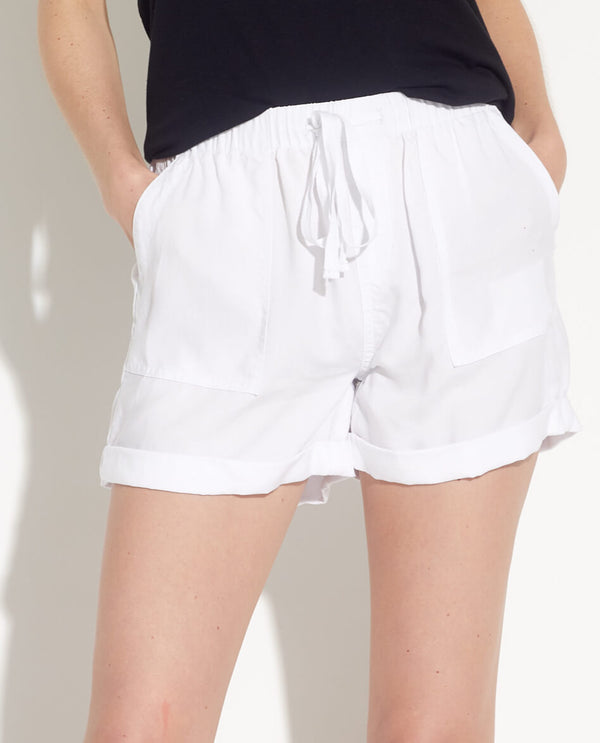 Rolled Cuff Drawstring Shorts - Workshop - JANE + MERCER