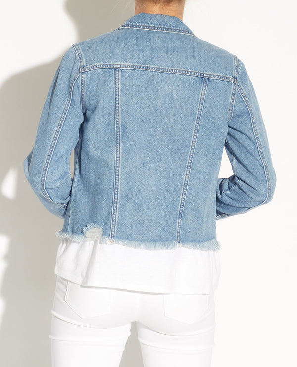Raw Hem Denim Jacket - For The Republic - JANE + MERCER