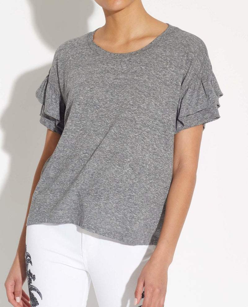 Short Ruffle Sleeve Tee - For The Republic - JANE + MERCER