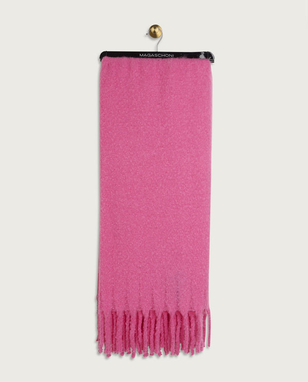 Faux Mohair Throw, Hot Pink - Magaschoni Home - JANE + MERCER