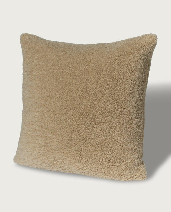 Teddy Faux Fur Square Pillow, Teddy Tan - Magaschoni Home - JANE + MERCER