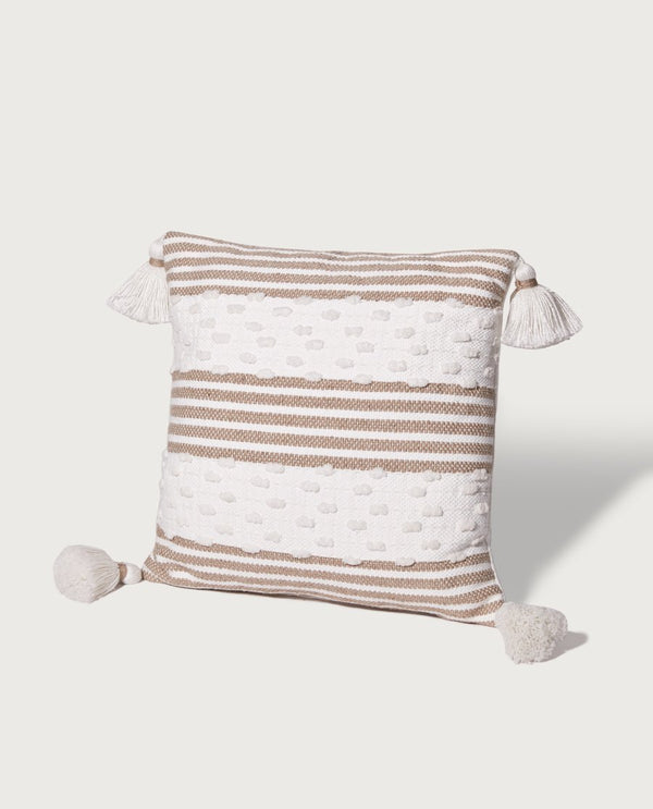 Indoor Outdoor Colorblock Stripe Pillow - Magaschoni Home - JANE + MERCER