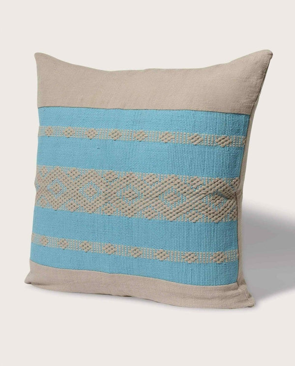 Eva Panel Pillow, Bright Blue - Magaschoni Home - JANE + MERCER