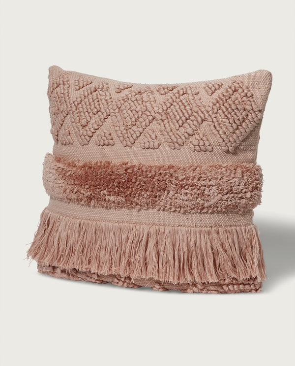 Lux Moroccan Diamond Pillow, Rose Cloud - Magaschoni Home - JANE + MERCER