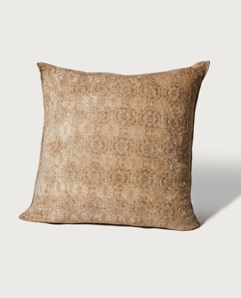 Oversized Embroidered Chenille Pillow, Sand - Magaschoni Home - JANE + MERCER