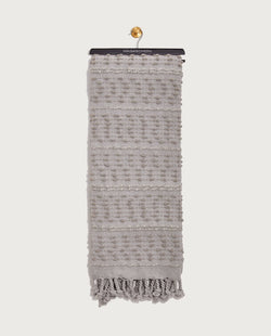 Multitexture Throw, Silver - Magaschoni Home - JANE + MERCER