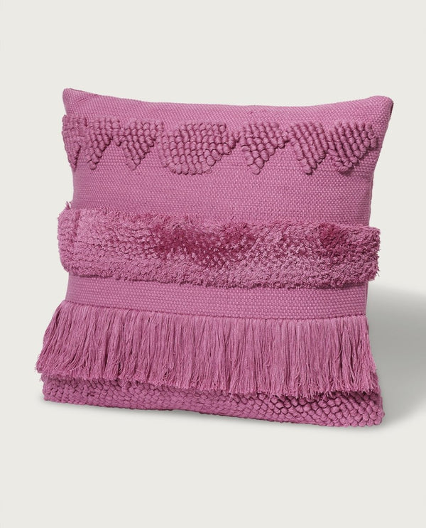 Lux Morroccan Pillow, Hot Pink - Magaschoni Home - JANE + MERCER