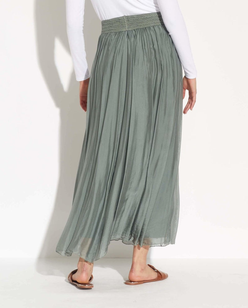 Elastic Waist Maxi Skirt - Belle France - JANE + MERCER