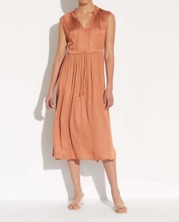 Sleeveless Double Tie Front Dress - T Tahari - JANE + MERCER