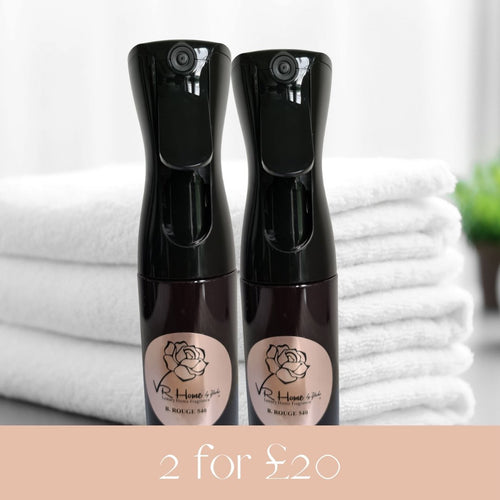 2 for £20 Room and Linen Mists, 185ml each - Velvet Rose Home