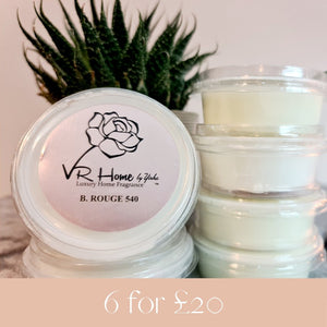 6 for £20 Luxury Scented Wax Melts - Velvet Rose Home