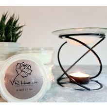 Load image into Gallery viewer, Black and Glass Luxury Wax Melter + Complimentary Wax Melt - Velvet Rose Home