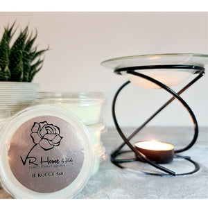 Black and Glass Luxury Wax Melter + Complimentary Wax Melt - Velvet Rose Home