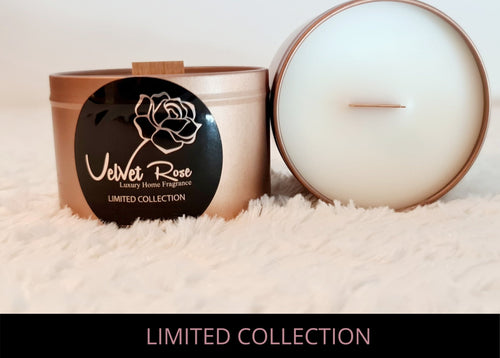 LIMITED COLLECTION | Frosted Honeysuckle & Elderflower Crackling Wick Luxury Candle, 250g - Velvet Rose Home
