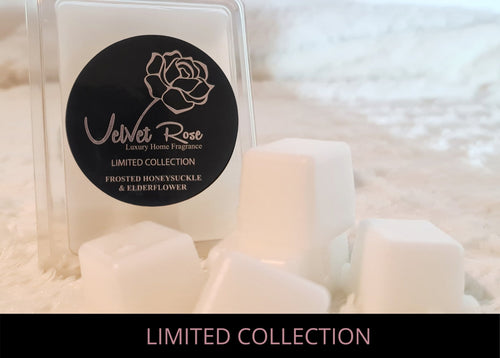 LIMITED COLLECTION | Frosted Honeysuckle & Elderflower Luxury Wax Melts - Velvet Rose Home