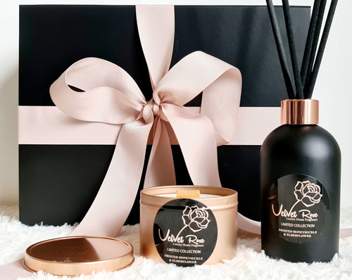 LIMITED COLLECTION | Luxury Diffuser & Candle Scenting Set - Velvet Rose Home