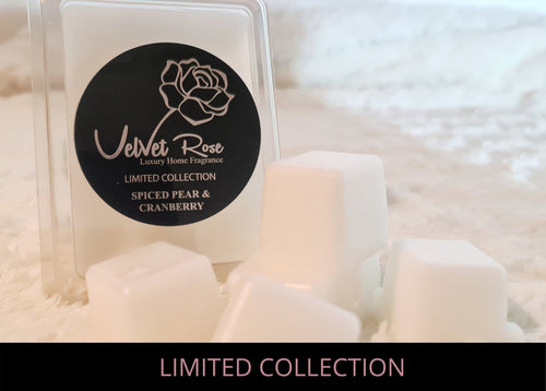 LIMITED COLLECTION | Spiced Pear & Cranberry Luxury Wax Melts - Velvet Rose Home