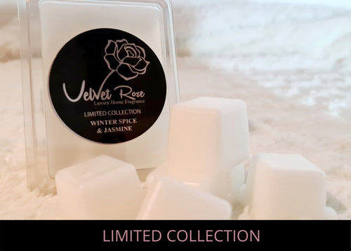 LIMITED COLLECTION | Winter Spice & Jasmine Luxury Wax Melts - Velvet Rose Home