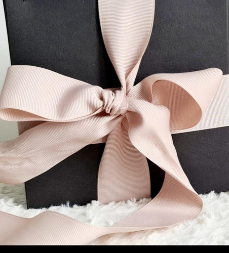 Luxury Magnetic Gift Box - with Black Luxe Wrapping Paper with Rose Gold Ribbon - Velvet Rose Home