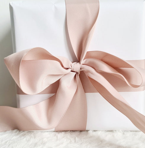 Luxury Magnetic Gift Box - with White Luxe Wrapping Paper with Rose Gold Ribbon - Velvet Rose Home