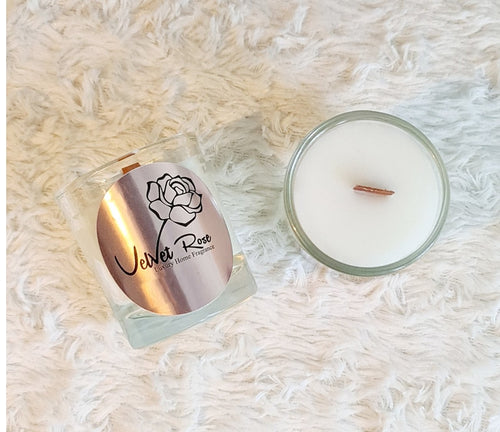 Mademoiselle Mini Crackling Wick Candle, 200g - Velvet Rose Home