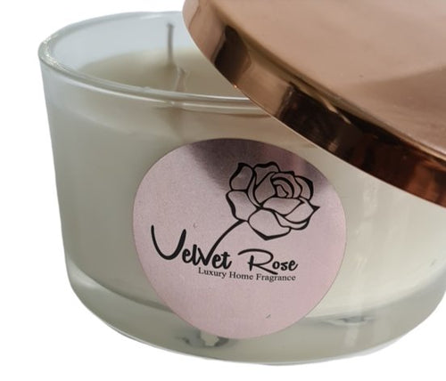 Pomegranate Noir Luxury 3 Wick Scented Candle - Velvet Rose Home