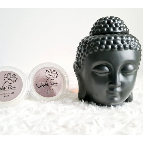 Traditional Buddha Head Oil Burner + 2 Complimentary Wax Melts - Velvet Rose Home