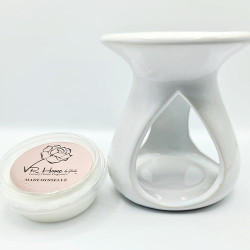 White Tear Drop Melter + Complimentary Wax Melt - VR Home by Yinka