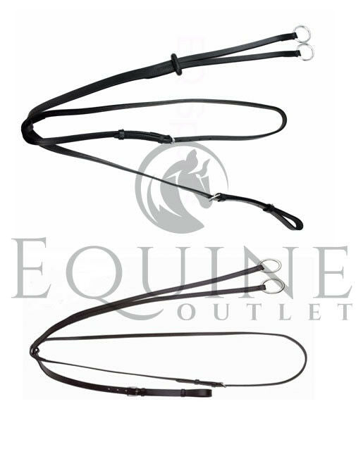 Leather Running Martingale with Rein Stop