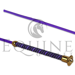 Colourful Schooling Whip with Gold End