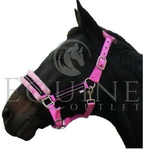 Fluffy Fleece Diamante Padded Headcollar