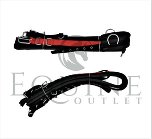 Deluxe Webbing Driving Harness Black/Red