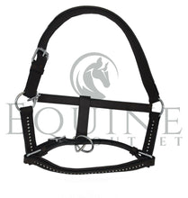 Load image into Gallery viewer, Deluxe Padded Leather Headcollar with Diamante Detail