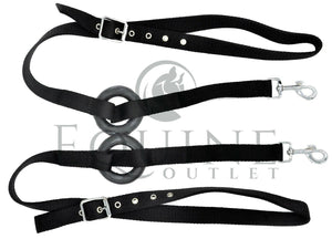 Pair of Side Reins with Rubber Ring