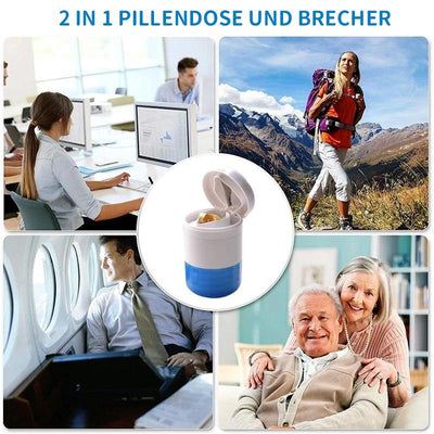 2 in 1 Pillendose und Brecher