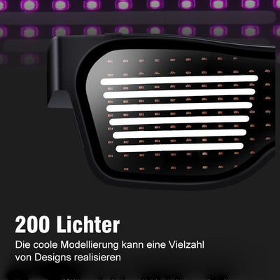 Coole leuchtende LED- Gläser Party