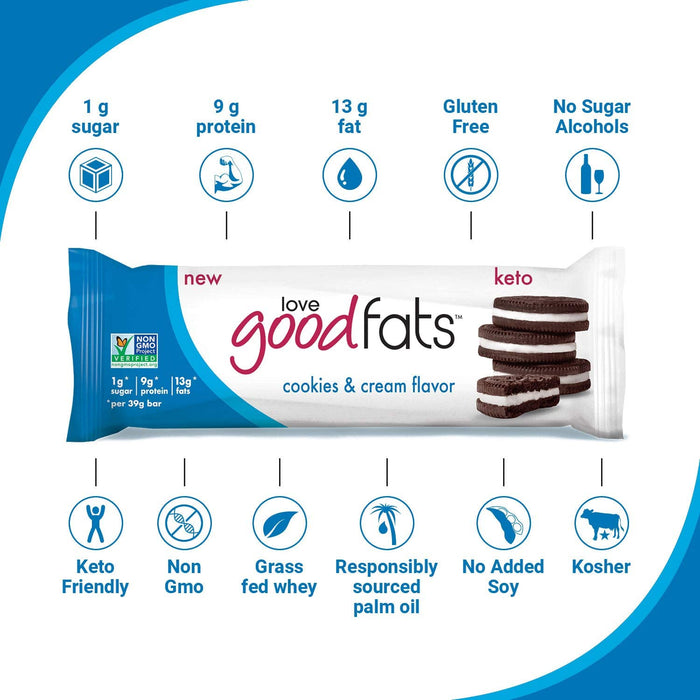 Suzie's Good Fats Keto Snack Bars, 1 Bar